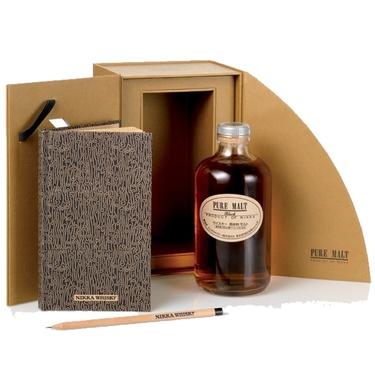 Coffret Whisky Japon Pure Malt Nikka Black Journal De Degustation 43% 50cl