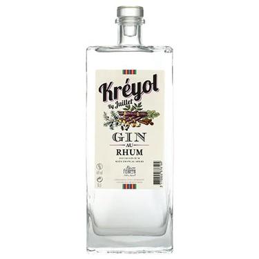 Gin Au Rhum Kreyol By Juillet Ferroni 44% 50cl