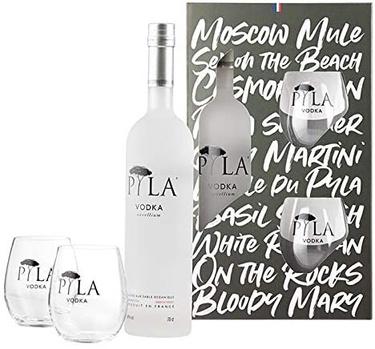 Coffret Vodka Francaise Pyla 40% 70cl
