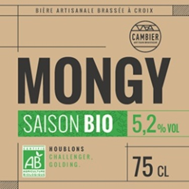 Mongy Saison Bio 33cl